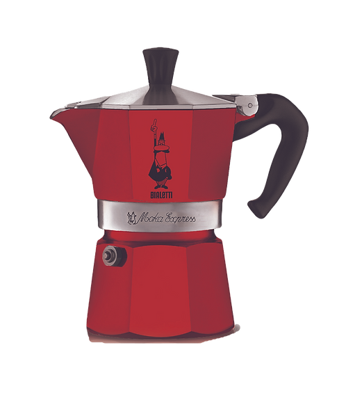 Кофеварка BIALETTI MOKA EXPRESS / гейзерная красная на 3 чашки (120 мл)