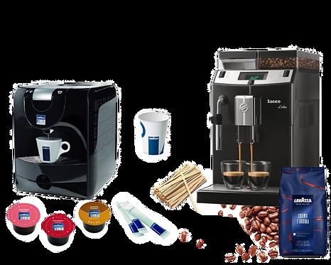 """"""" PORZIA 600 """" : капсульная + зерновая кофемашины и 600 порций в месяц"""