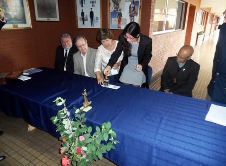 Ceremonia de conmemoración realiza el IIHACH en el Colegio Nuestra Señora de Loreto