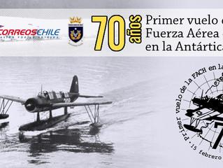 70 años del primer vuelo de la Fuerza Aérea de Chile en la Antártica