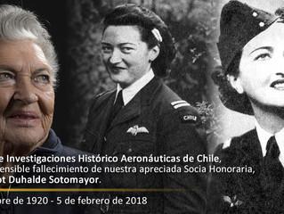 Fallece Margot Duhalde Sotomayor