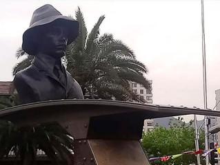 Inauguración del monumento que recuerda al célebre pionero aeronáutico, don Alberto Santos Dumont