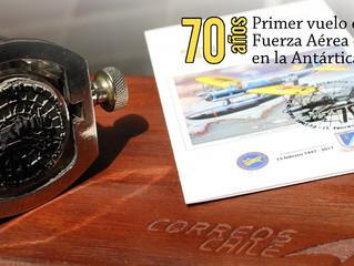 Ceremonia: 70° Aniversario del primer vuelo de una aeronave Chilena en la Antártica.