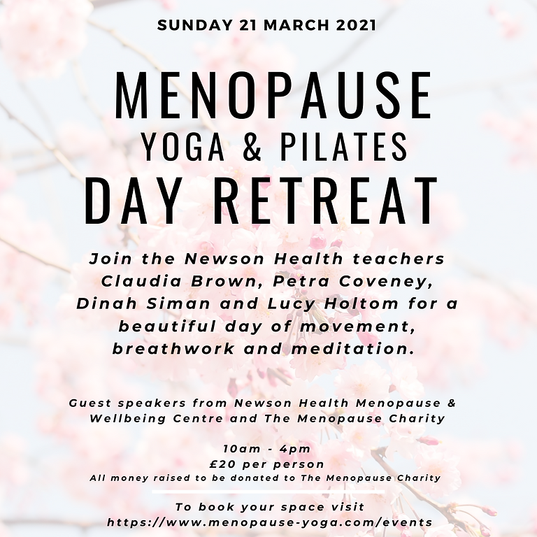 Menopause Charity Day Retreat - March 2021