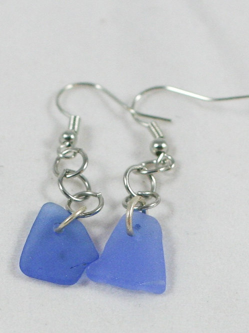 Seaglass Drop Earrings (various colors available)