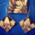Picture of woodburned jewelry
