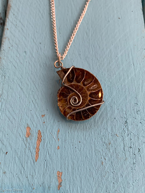Shell Fossil Necklace #1