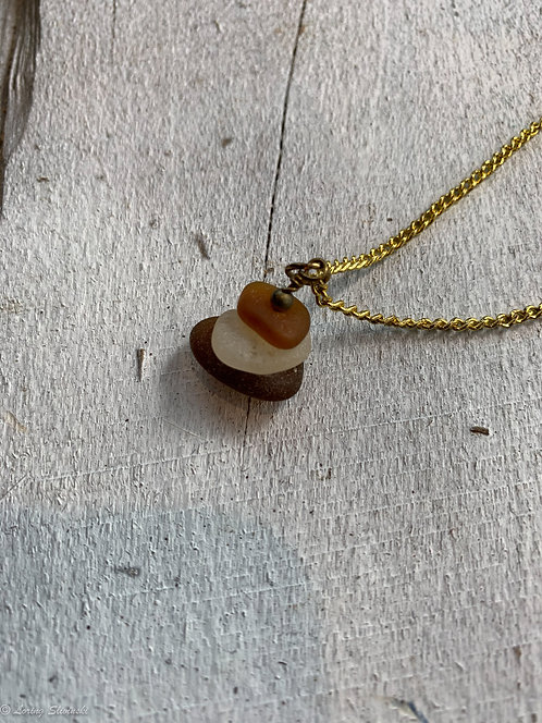 Stacked Seaglass Necklace #3