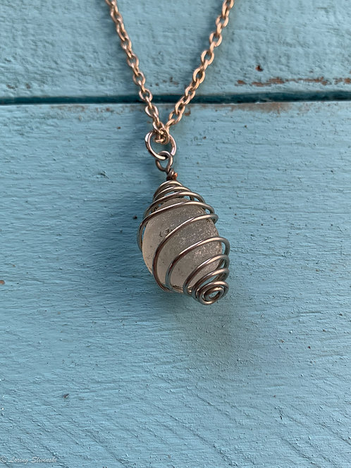 Caged Seaglass Necklace2