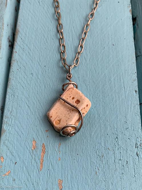Clay pendant wire wrap