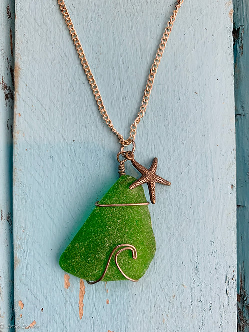 Seaglass Wave Necklace #5