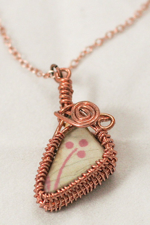 Basketweave Pendant Clay & Copper