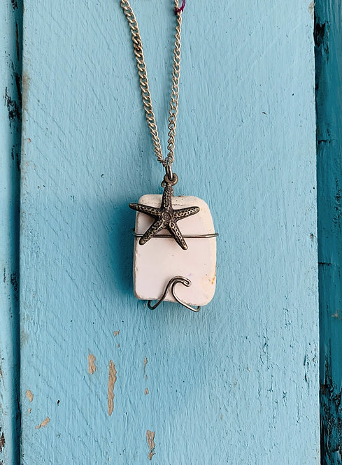 Seaglass Wave Necklace #3