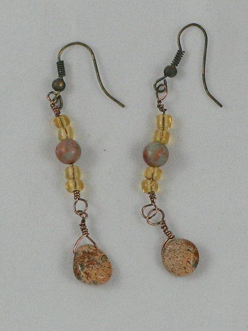 Jasper Bead Earrings