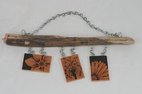 Wall Bling: Pyrography Flowers
