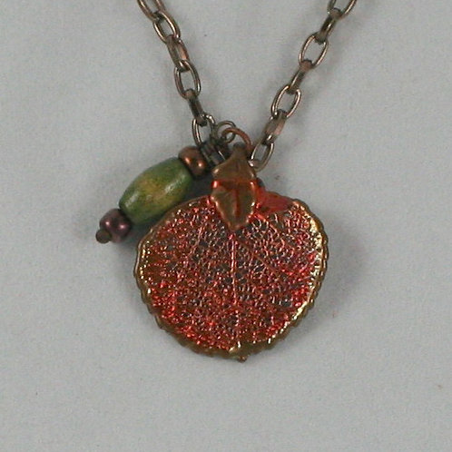 Gilded-leaf Necklace: Aspen