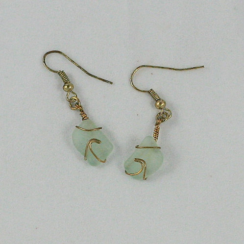 Seaglass Wave Earrings (various colors available)