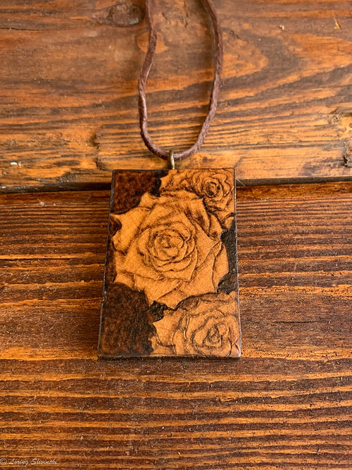 Pyrotiles Necklace: Roses