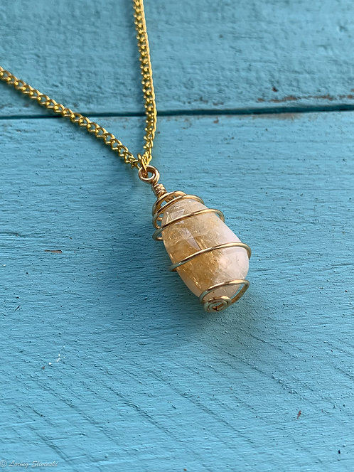 Caged Citrine Necklace