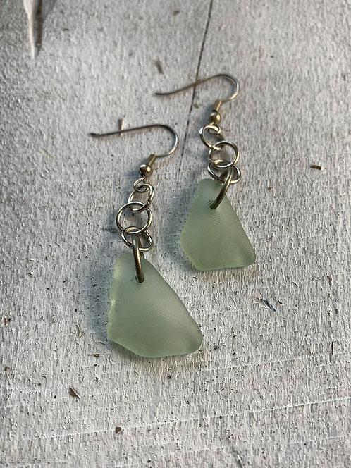 Seaglass Drop Earrings Seafoam 2