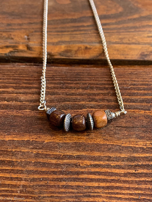 Exotic Wood Bead Necklace#16