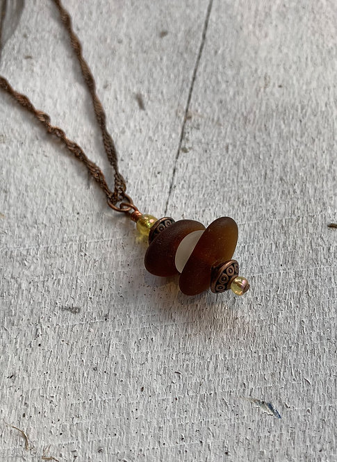 Stacked Seaglass Necklace #8