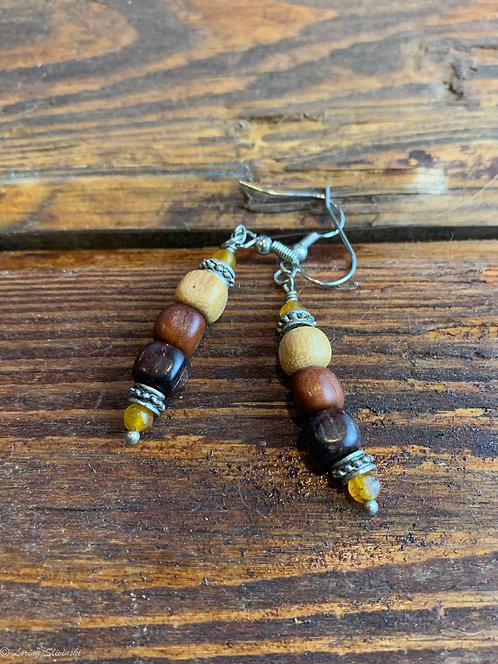 Exotic Wood Stack Earrings (bead)