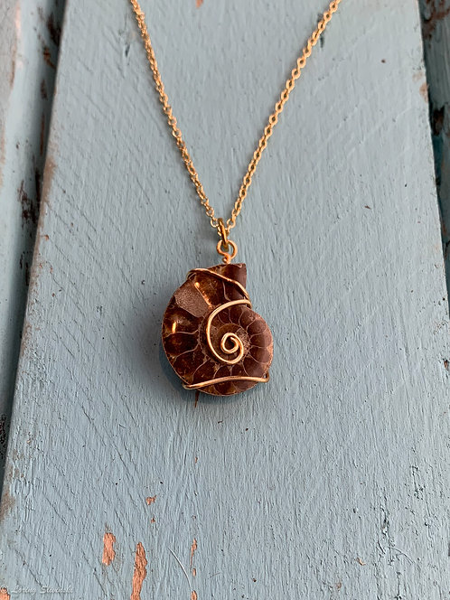 Shell Fossil Necklace #3