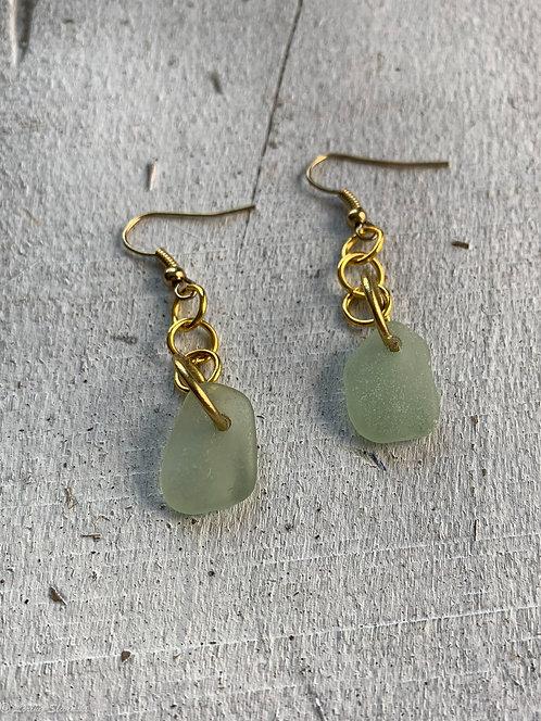 Seaglass Drop Earrings Seafoam 1