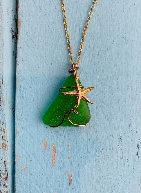 Seaglass Wave Necklace #4