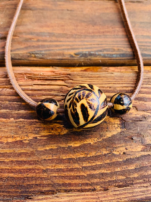 Pyro Bead Necklace: Fern