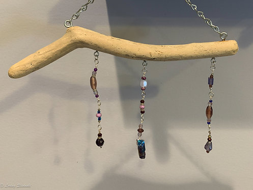 Wall Bling:Seaglass & Bead #3