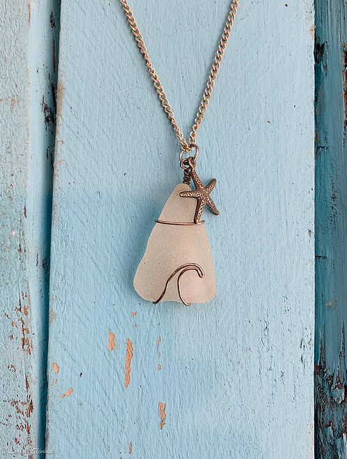 Seaglass Wave Necklace #2