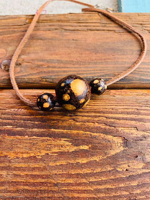 Pyro Bead Necklace: Dots
