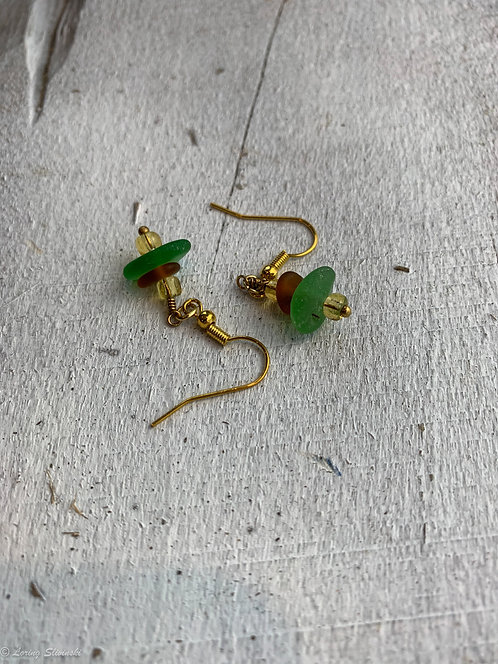 Stacked Seaglass Earrings #7