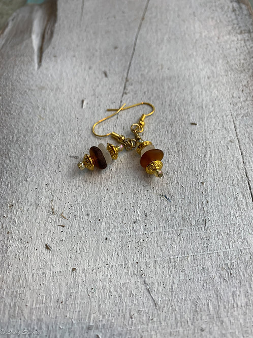 Stacked Seaglass Earrings #6