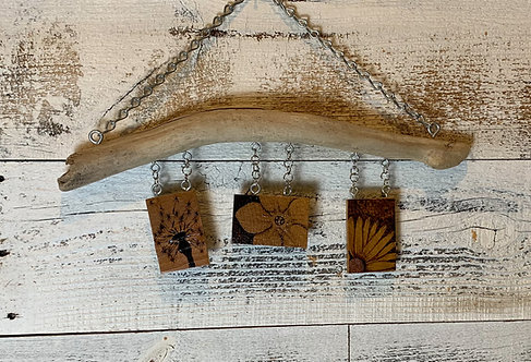 Wall Bling: Pyrography Flowers #3