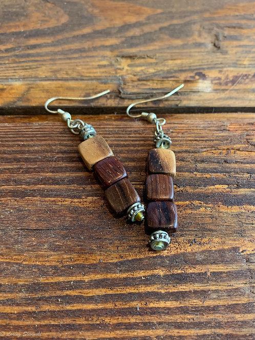 Exotic Wood Stack Earrings (sq)