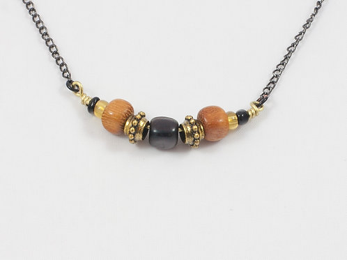 Exotic Wood Stack Necklaces