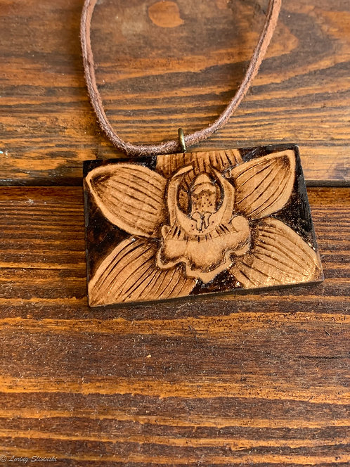 Pyrotiles Necklace: Orchid
