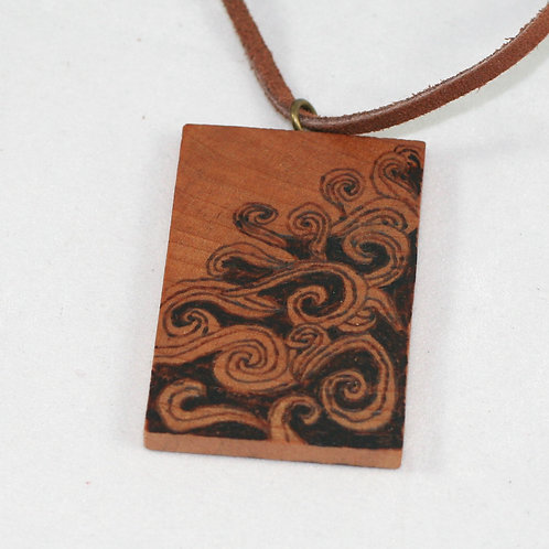 Pyrotiles Necklace: Abstract Swirls