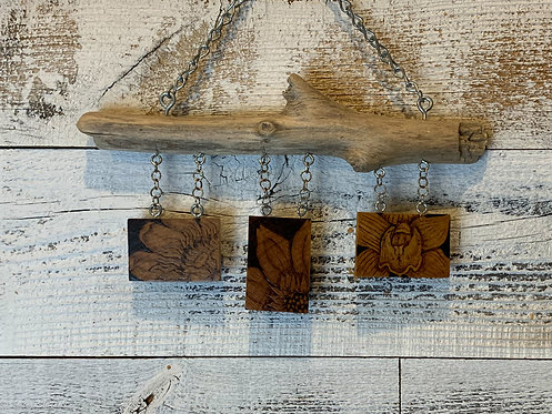 Wall Bling: Pyrography Flowers #1