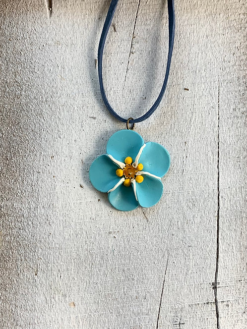 Forget-Me-Not Choker Necklace