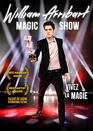 Affiche William Arribart Magic Show nue.