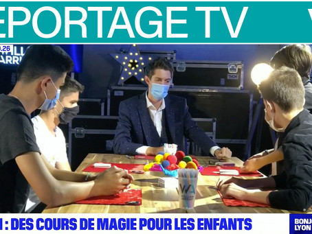 Reportage sur BFMTV pour l'École de Magie de William Arribart
