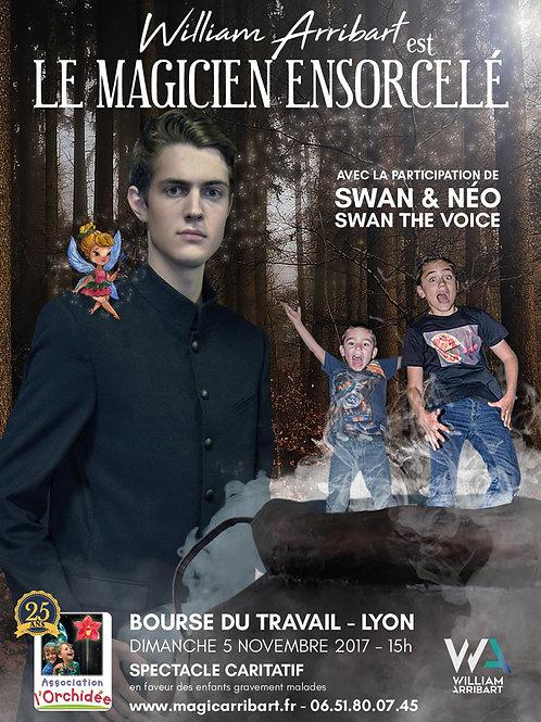 """Affiche """"William Arribart est Le Magicien Ensorcelé"""""""