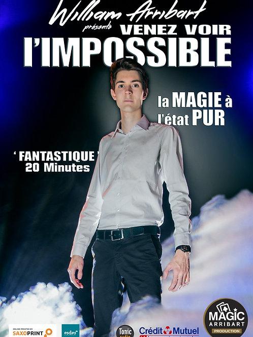 """Affiche """"William Arribart Venez voir l'IMPOSSIBLE"""""""