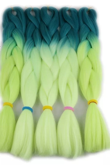 Turquoise Apple Ombre Braiding Extensions