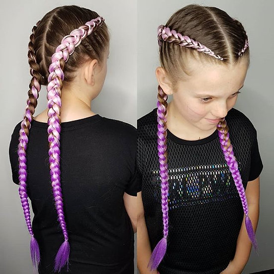 Light Pink to Purple Ombre Braiding Extensions