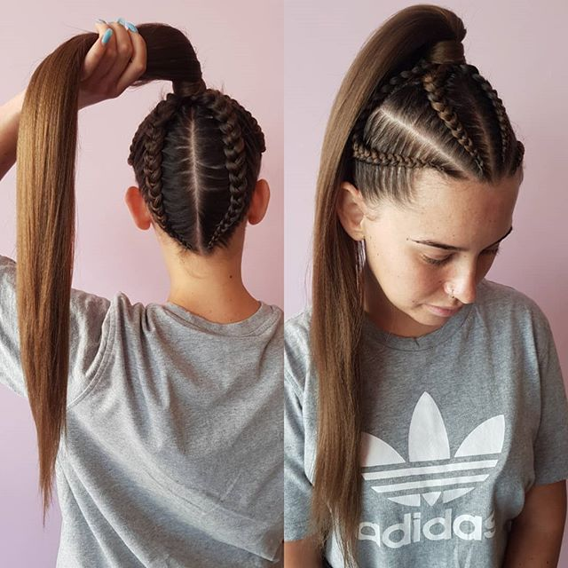 6-8 Braided Ponytail Style